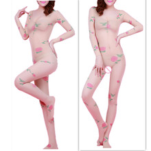 Sexy lingerie women hot sexy costumes Exotic Apparel Transparent printing one piece leotard Baby Dolls underwear intimates hot(China)