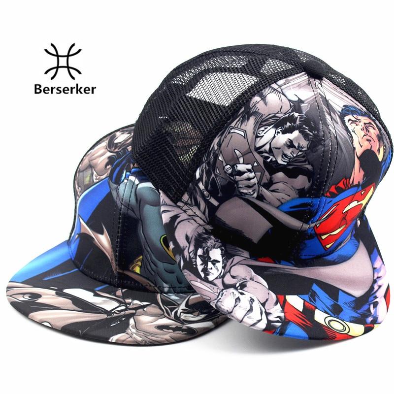 2016 Batman VS Superman fashion brand childrens casual mesh cap hip-hop cap baseball cap adjustable rapid bone bomb cap<br><br>Aliexpress