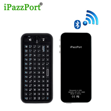 iPazzport English Mini Wireless bluetooth Keyboard Air Mouse Remote Control For Android TV Box, PC, iPad, tablet , laptop
