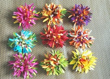 New  FREE SHIPPING+KL36212  50pcs/lot    13x13cm 10COLORS MIXED Felt  Spider lily hair clip W ORCHID  Hawaii hair flowers