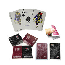 "NEW ""Poker Stars"" Red/Black Option Texas Holdem Poker Cards Waterproof And Dull Polish Poker With Free Shipping(China)"