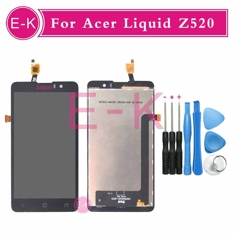 High quality 5.0 For Acer Liquid Z520 LCD Display + Touch Screen Digitizer Assembly Replacement + Tools Free Shipping<br><br>Aliexpress