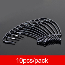 JSFUN 10pcs/lot Fishing Soft Worm Bait Hook Quality South Korea Made High Carbon Steel Fishhook Lure Hooks 2#-4/0# FH70