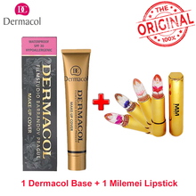 Original Dermacol Make up Cover Primer Concealer Base Professional Face Dermacol Makeup Foundation Contour Palette Makeup Base(China)