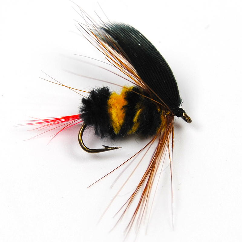 6PCS Bumblebee Fly Fishing Flies Trout Bass size #10 Factory Customize Flies Bumble Bee Lure Fake Bait fishing Include Box<br><br>Aliexpress