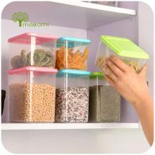 New Plastic Food Storage Box Sealed Crisper Grains Tank Storage Kitchen Sorting Food Storage Box Container(China)