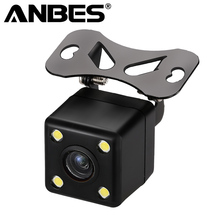 Anbes Rear View Camera Waterproof Full HD CCD Car Rear Camera 4 LED Night Vision Car Parking Assistance Parktronic Camera(China)