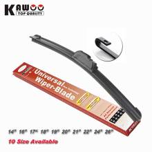KAWOO Universal Car wiper blade U-type Soft Frameless Bracketless Rubber Car windshield wipers 14 16 17 18 19 20 21 22 24 26inch