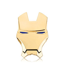 Chrome Metal Silver Gold Iron Man Car Emblem Stickers Logo Decoration The Avengers 3D Car Styling Decals Exterior Accessories