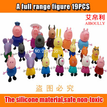 Aiboully 2017 New Arrival pig toys Friends  Suzy Emily Danny Rebacca The  Pigs Figure Toys Gifts For Kids