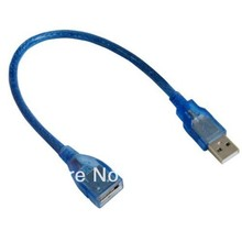 Free shipping +tracking number+10pcs/lot+ High Speed 2.0 STANDARD USB 2.0 AM to AF Extension Cable, Length: 30cm