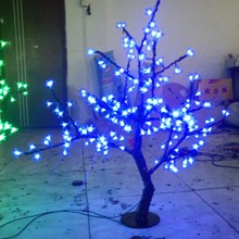 0.8M /2.6 ft height LED Cherry Blossom Tree Outdoor indoor Wedding Garden Holiday Light Decor 240 Blue LEDs(China)
