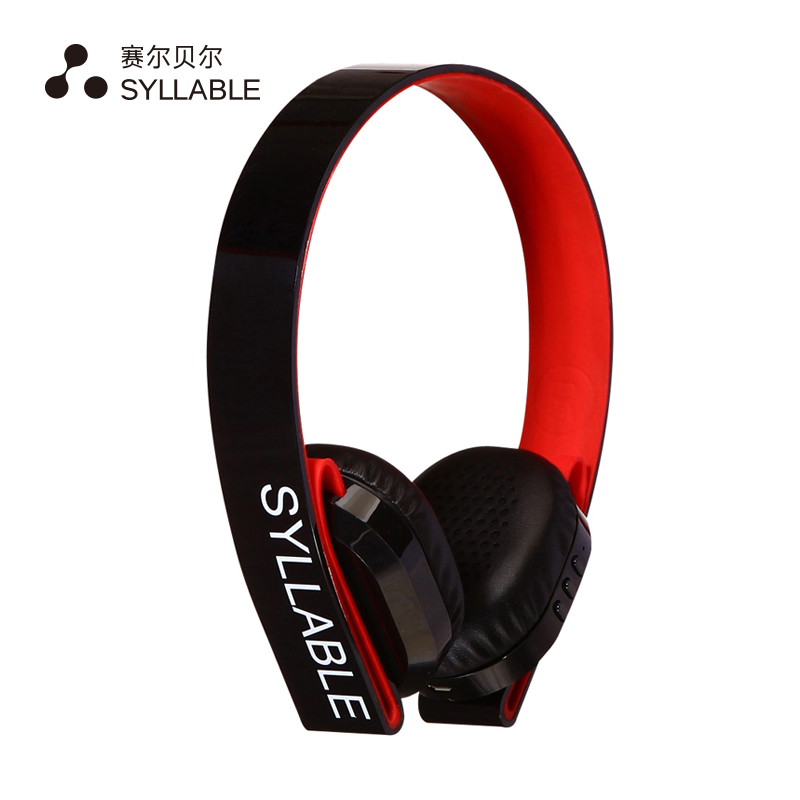 SYLLABLE G600 Wireless Bluetooth Earphone Noise Canceling Headphone Headset Deep Bass with Microphone/40mm Speaker double model<br>