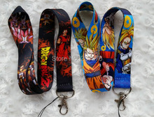 Small  Wholesale New 20pcs Japanese anime Dragon Ball Neck Strap Lanyard MP3/4 cell phone/ keychains  free shipping  C-39
