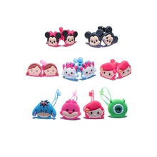 4pairs Lovely Hot Cartoon Cute TSUM Hairbands Headwear Baby Girl Hair Accessories PVC+Elastic Bands Kids Party Gift Hair Jewelry