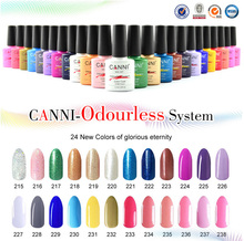 2017 CANNI brand new 24 color high quality product soak off odorless organic uv gel nail polish varnish gel lacquer(China)