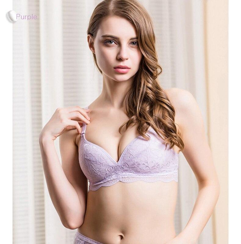 Women Lace Bras Wireless Bralette Seamless Bra Push up 100% Natural silk underwear deporte sujetador reggiseno Free shipping 6
