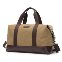 Vintage Canvas Men Travel Bags Large Capacity Handbags Carry on Luggage Bags Men Duffel bag Multifunctional Travel Totes sac(China)