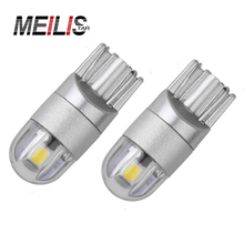 2017 Car Styling 2x T10 168 194 W5W LED with Chip Replacement Bulbs For Car License Plate Lights Parking Lights Led 12v DC
