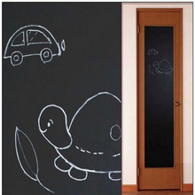 2016 Wall Sticker For Kids Rooms Black Blackboard Decal Vinyl Chalkboard Wall Stickers Home Decor Great Gift Chalkboard Stickers(China)