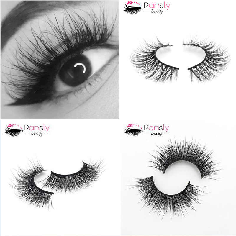 20ca4f7133b PANSLY 1 Pair Silk Eyelashes Crisscross Handmade False Eyelashes 3D Strip  Eyelashes Thick Faux Mink Eyelashes