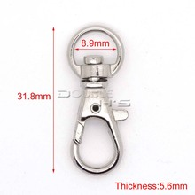 5pcs/lot Matel Snap Hooks Rotary Swivel For Backpack Webbing 8.9mm Nickel Plated Lobster Clasps
