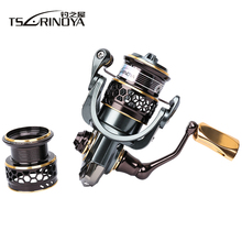 TSURINOYA Jaguar Series 1000 Double Spool Stainless Steel Bearing 185g Ultra-light Lure Spinning Reel Rocky Fishing Reel