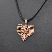 Sykesha 2018 Rope Chain Fashion Women Chinese Crested Pet Necklaces Lovers' Animal Rose Gold Pendant Necklaces Drop Shipping(China)