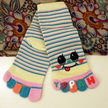 Cheap Stuff Fashion Cute Five Fingers Kids Socks Autumn Winter Cartoon Kids Toe Socks Mid-calf Breathable Socks For Children