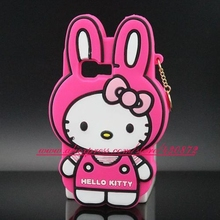 For Samsung Galaxy Young 2 3D Silicon Bunny Ears Hello Kitty Soft Cell Phone Back Case Cover for Samsung Galaxy Young 2 G130