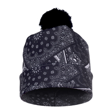 FCCEXIO 2017 New Autumn and Winter Women 3D Printed BANDANA CZARNA Warm Pompon Hat Beanies Unique Colorful Nice Knitted Hat