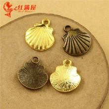 9*7MM Antique Bronze Tone Mobile phone shell charm beads, retro gold plated jewelry pendant, golden charms for bracelet making