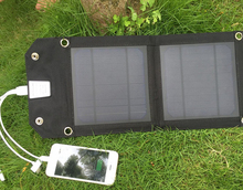 Recommend 5V 5W Portable Foldable Solar Panel Charger Solar Phone/Tablet/Battery Charger for iPhone iPad Sumsung outdoors