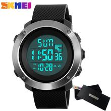 2017 Skmei Men's Fashion Sport Watches Men Digital LED electronic Clock Man Military Waterproof Watch Women Relogio Masculino(China)