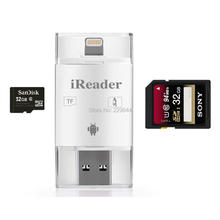HD Drive Card Reader USB Micro SD Card TF Card Reader with App for Android iPhone 5 6 6 Plus Tablets, S6 S7 S5 S4 S3, Note 4 3 2