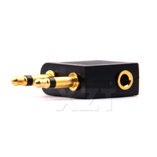 PZ 2PCS Airplane Earphone Jack Airline Headphone Headset Jack Audio Adapter 3.5mm(China)