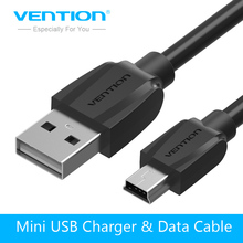 Vention Mini USB Cable 1m 1.5m 2m Mini USB to USB Data Charger Cable for Cellular Phones MP3/4 GPS Camera HDD Mobile Phone USB(China)
