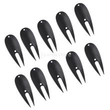 10 Pieces Plastic Golf Putting Green Fork Divot Tool Lawn Repair(China)