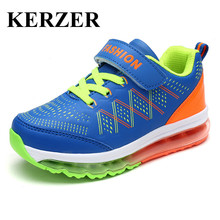 KERZER New Kids Shoes Boys Sneakers 2017 Air Sport Shoes Black Blue Children Running Shoes Air Boys Girls Trainers Kd Sneakers