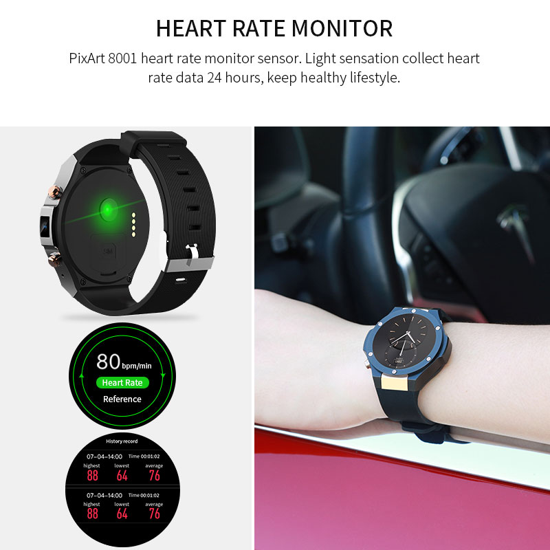 Jakcom Smart Watch H2 MTK6580 Life Waterproof Quad Core GPS Wifi 3G Heart Rate 500W 1G RAM 16G ROM Bluetooth For Iphone Android