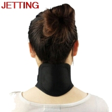 JETTING 2016 Hot High Quality Magnetic Therapy Neck Spontaneous Heating Headache Belt Neck Massager(China)