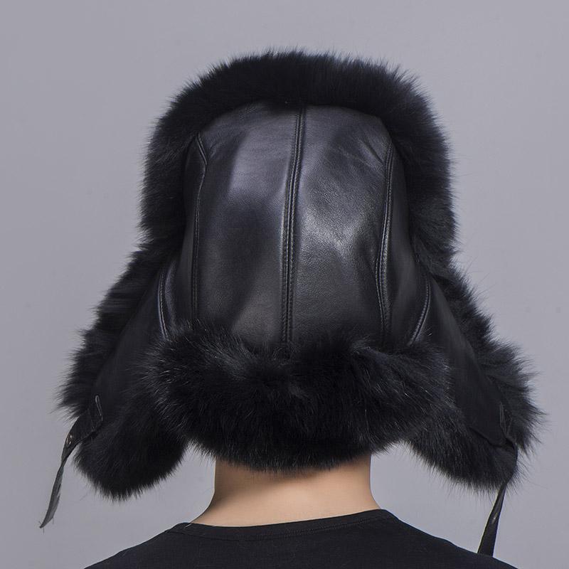 big fur hat black fox fur 5