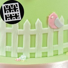 1PC Fence Picket Cutters Plastic Cake Decorating Mold Sugarcraft Mold Cookie Cutting