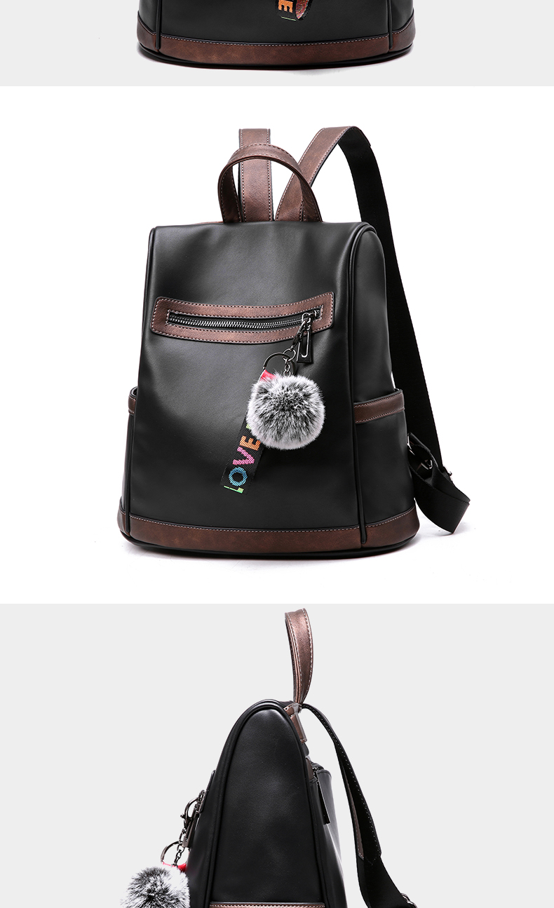 2018 New High-end Fashion Backpack Trend Simple Personality Fashion Campus Bag Large Capacity Bag Soft Leather Travel Backpack 52 Online shopping Bangladesh