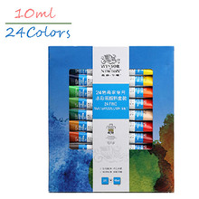 24Colors Professional Winsor&Newton Acrylic Paints Set Hand Painted Tube Acrylic Fabric Textile Drawing Acrylic Painting