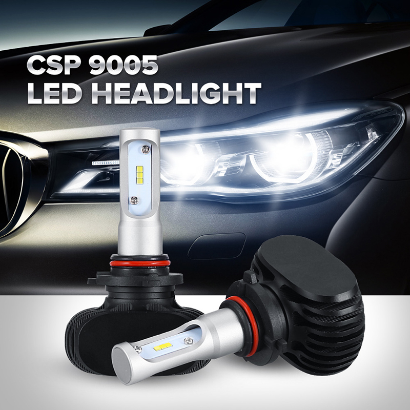 Oslamp Single Beam CREE CSP Chips HB3/9005 LED Car Headlight Automobile SUV Headlight Kits 50W/Pair LED Fan-less Fog Lamps 6000K<br><br>Aliexpress