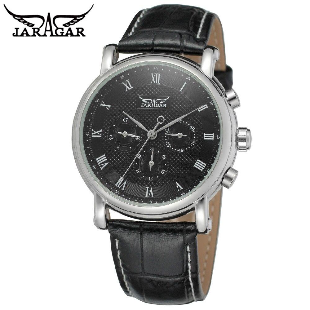 JARAGAR Mens Watches Top Brand Luxury 6 Hands Auto Mechanical Watch Watches Sport Wristwatches Gift Free Ship<br><br>Aliexpress