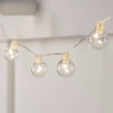 Buy Globe LED Fairy lights Warm White Silver wire Battery Bulb string Lighting Christmas Lights Party Holiday Decoration Garland for $8.19 in AliExpress store