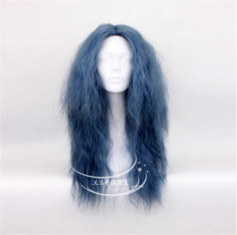 FREE SHIPPING Anime Into the Woods Witch Mixed Smoke Blue Full Lace Cosplay Wig Costume Heat Resistant + Cap<br><br>Aliexpress