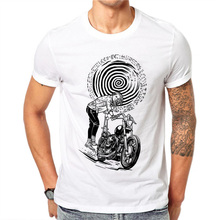 100% Cotton Summer Sketch Men T Shirts Fashion Locomotive Girl Design Man Short Sleeve Tops Tees Clothes XXXXL(China)